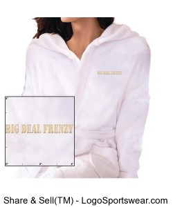 Hooded Coral Fleece Robe Design Zoom